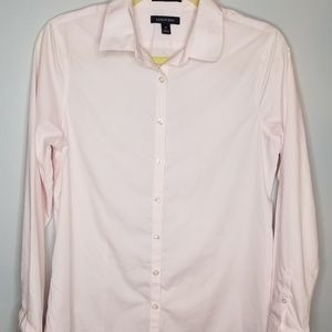 Land's End pink long sleeve blouse
